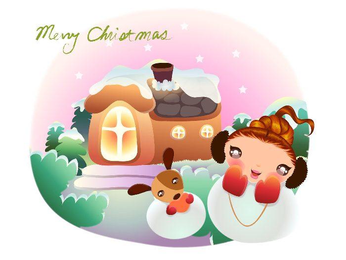 2007聖誕卡通美女